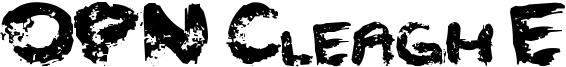 OPN Cleagh E Font