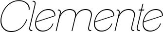 ClementePDab-HairlineItalic.ttf