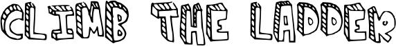 Climb the ladder Font