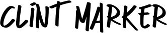 Clint Marker Font