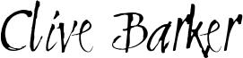 Clive Barker Font