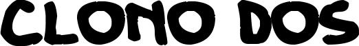 Clono Dos Font