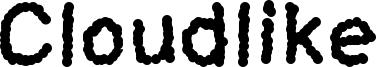 Cloudlike Font