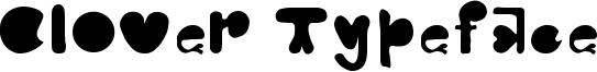 Clover Typeface Font