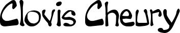 Clovis Cheury Font