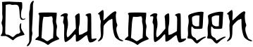 Clownoween Font
