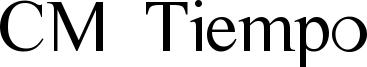 CM Tiempo Font