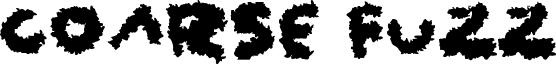 Coarse Fuzz Font