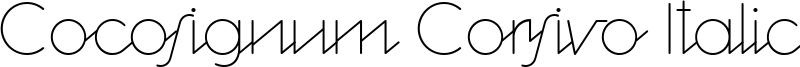 Cocosignum Corsivo Italico Font