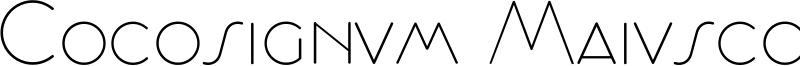 Cocosignum Maiuscoletto Font