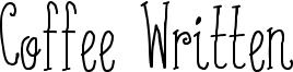 Coffee Written Font