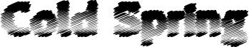 Cold Spring Font