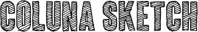 Coluna Sketch Font