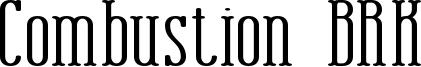 Combustion BRK Font