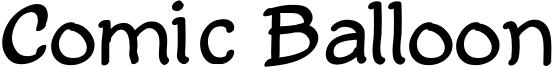 Comic Balloon Font
