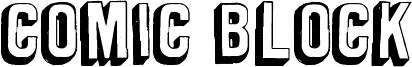 Comic Block Font