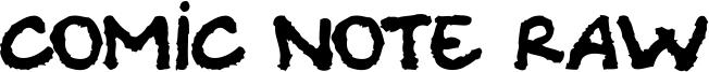 Comic Note Raw Font