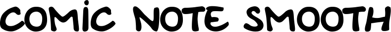 Comic Note Smooth Font