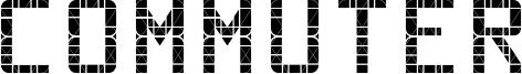 Commuter Font