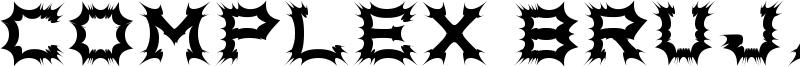 Complex bruja Font