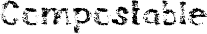 Compostable Font