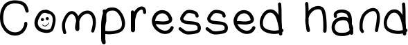 Compressed hand Font