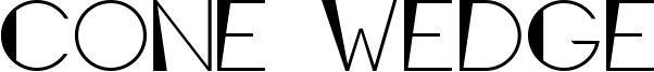 Cone Wedge Font