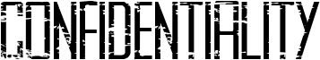 Confidentiality Font