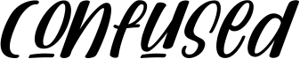 Confused Font