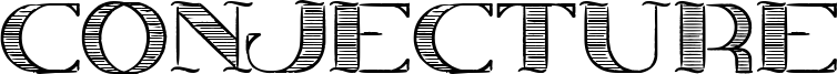 Conjecture Font