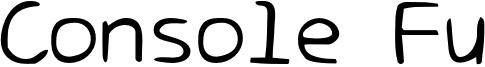 Console Fu Font