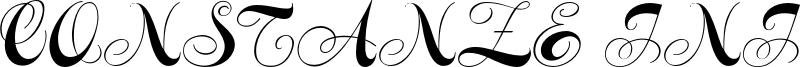 Constanze Initials Font