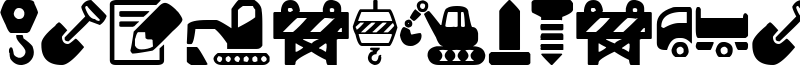 Construction Icons Font