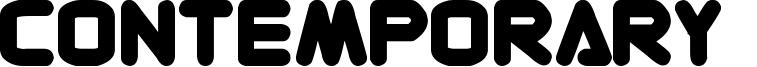 Contemporary  Font