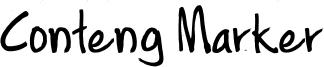 Conteng Marker Font