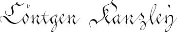 Cöntgen Kanzley Font