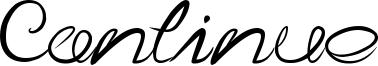 Continue Font