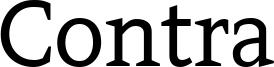 Contra Font