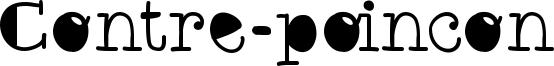 Contre-poincon Font