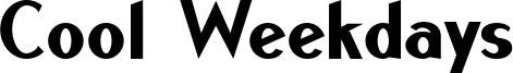 Cool Weekdays Font
