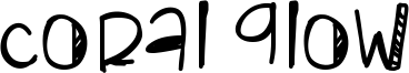 Coral Glow Font