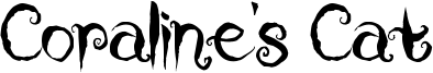 Coraline's Cat Font