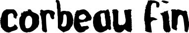 Corbeau Fin Font
