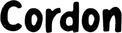 Cordon Font