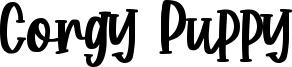 Corgy Puppy Font