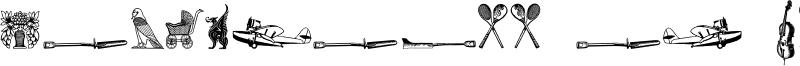 Cornucopia od Dingbats Six Font