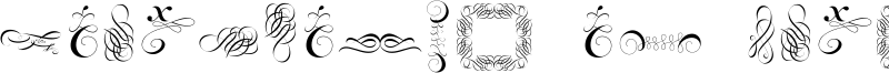 Cornucopia of Ornaments Font