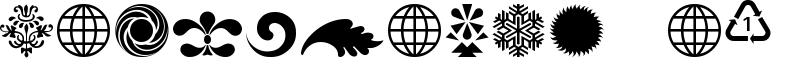 Cornucopia of Ornaments Four Font