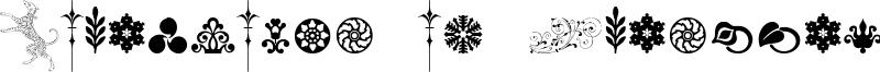 Cornucopia of Ornaments Two Font