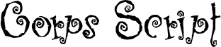 Corps Script Font